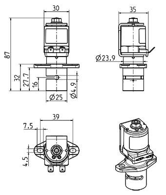 Vanne 2/2 à pincement de tuyau, NF - 16.003.525