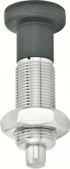 Doigt d'indexage - inox, entièrement fileté