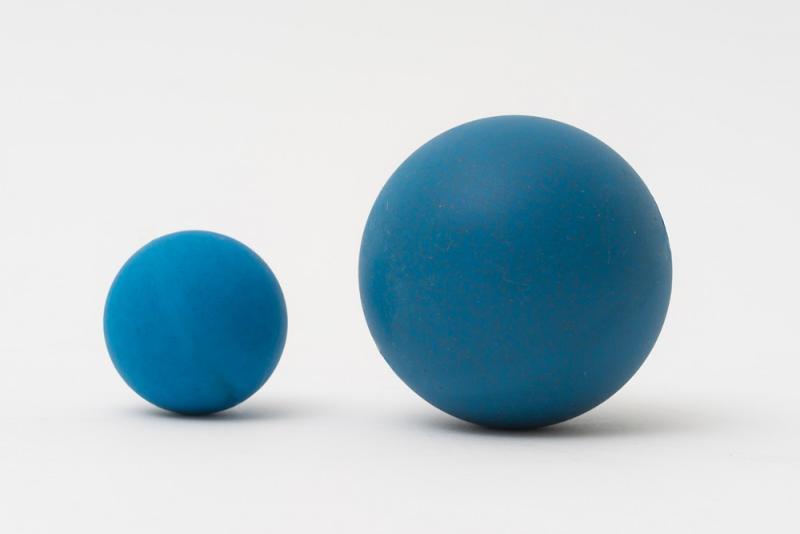 Balles détectables en PU et Silicone - Billes avec des additifs pour l'équipement de détection de métaux.