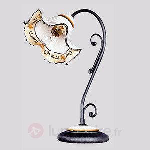 Lampe à poser Zircone à pied de couleur anthracite - Lampes à poser rustiques
