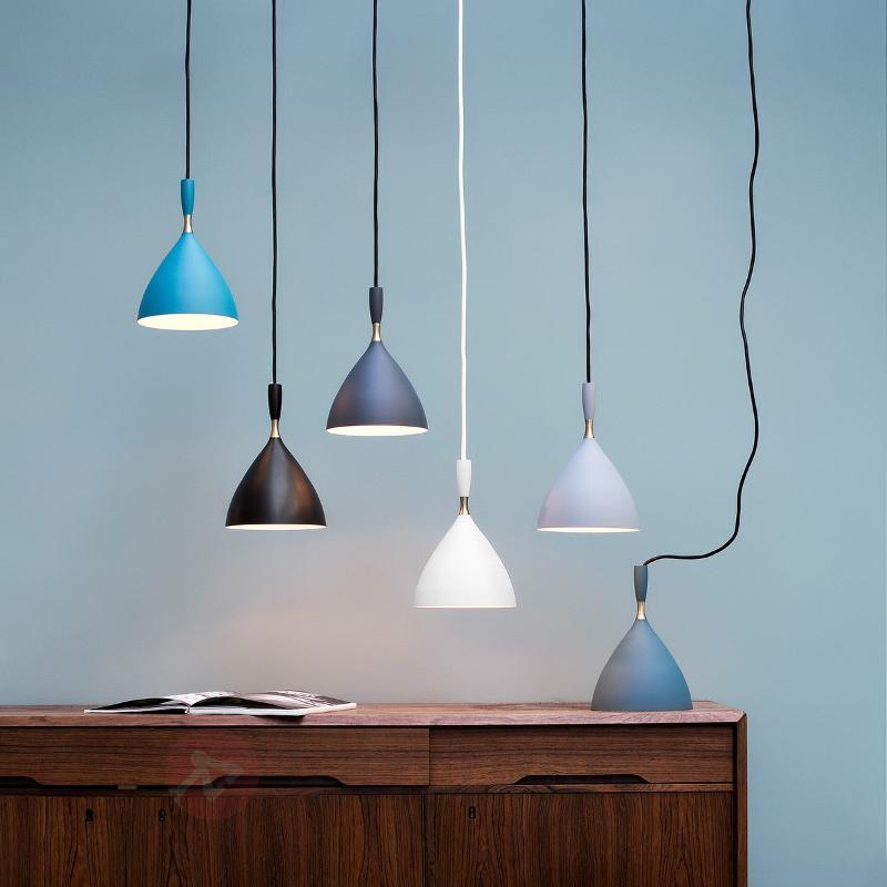 Lampe design rétro Dokka en bleu-vert - Suspensions design