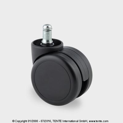 Roulette de chaise/fauteuil - Roulettes pivotantes à frein, 5923UOI065B10-11x20 DOM27