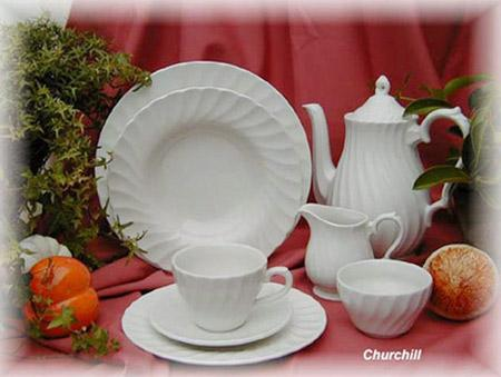 67 pcs Churchchil service de table et service à café - CHUCH150067