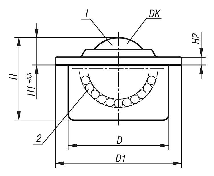 Ball transfer units with steel housing - Ball transfer units