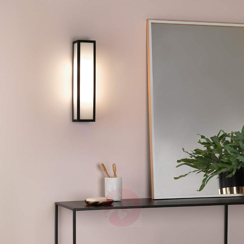 Salerno Outside Wall Light with White Glass - Outdoor Wall Lights