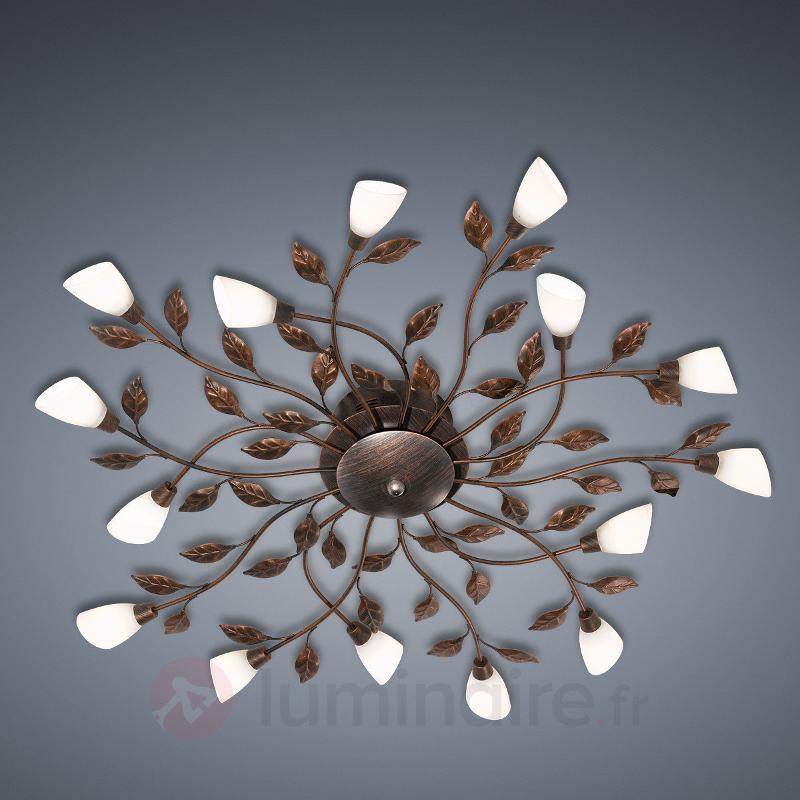 Plafonnier LED Jela florentin rouille antique - Plafonniers style florentin