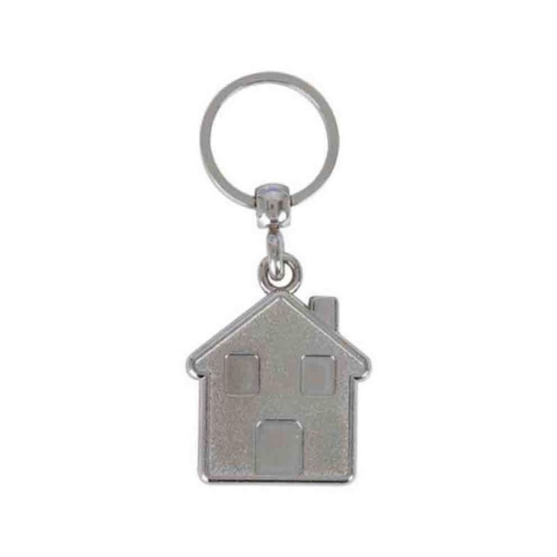 Porte-clés maison 1 face - Porte-clés métal