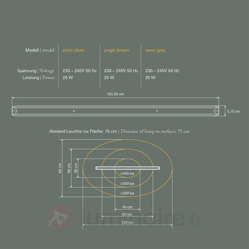 Suspension ANAX innovante gris satiné - Suspensions LED