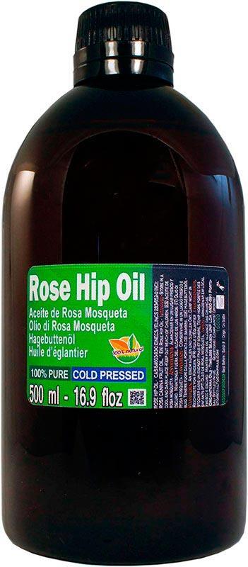 Aceite de Rosa Mosqueta 100% Puro. Botella 500ml -
