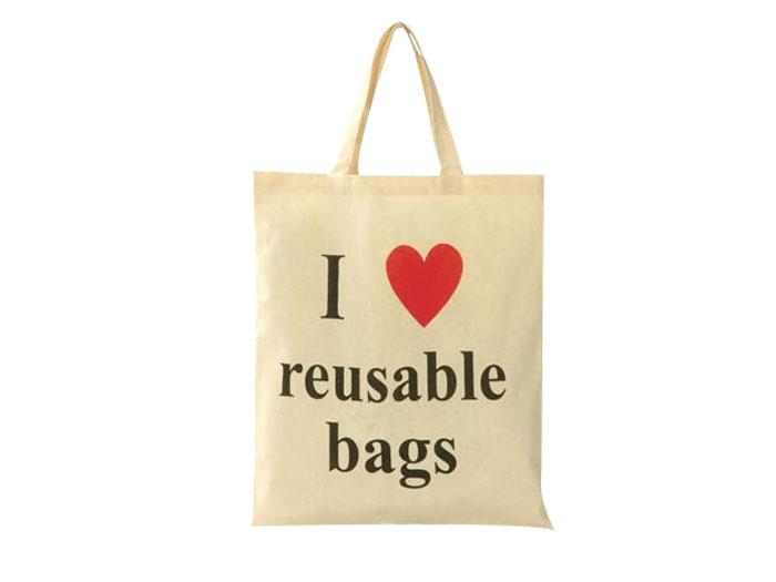 Natural 5oz Long handled cotton shopper bag - Promotional Bags from Another Bloody Bag Company - Promotional Shopping Bags - N