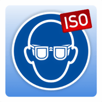 Gebotsschild Augenschutz benutzen - Größe: 50 mm Durchmesser 100 mm Durchmesser 200 mm Durchmess