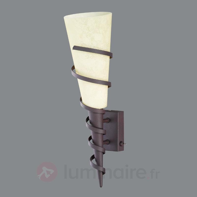 Applique torche rustique Maya - Appliques rustiques