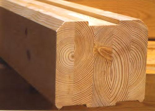 wooden profiled timber - wooden profiled rectangular timber, wooden profiled round timber, glulam