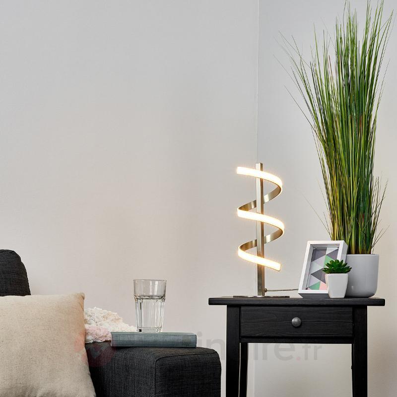Lampe à poser à LED en forme de spirale Pierre - Lampes à poser LED