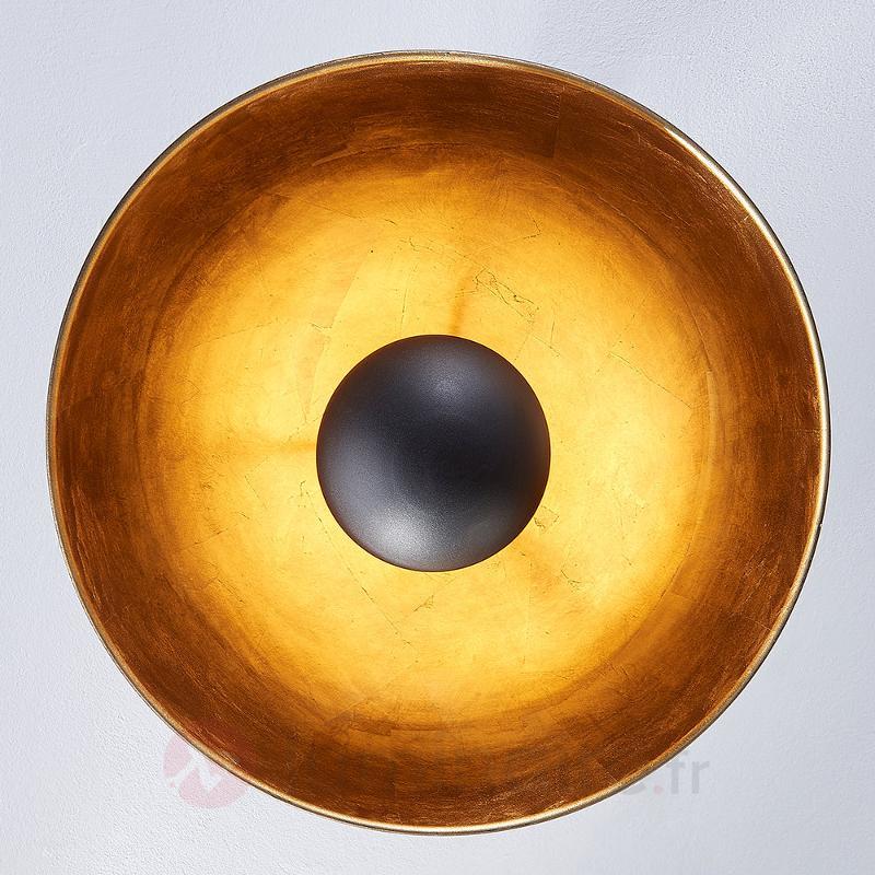 Joli plafonnier Lya, noir-doré - Chambre à coucher