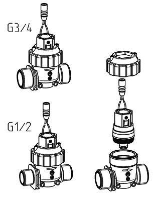 Cartridge valve body adapter - 50.007.126 screw cap