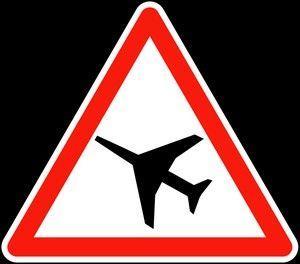 Panneau A23 Traversée D'une Aire De Danger Aérien  - Balisage De Chantier Et Panneaux Routiers