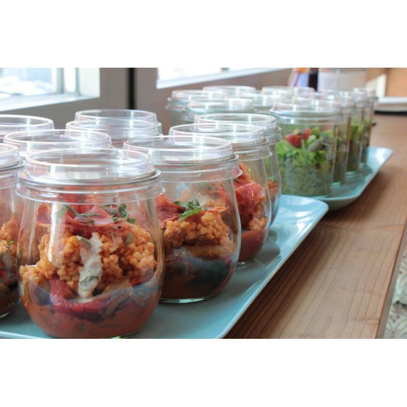 24 Caps diameter 60 mm out of transparent plastic - for jar