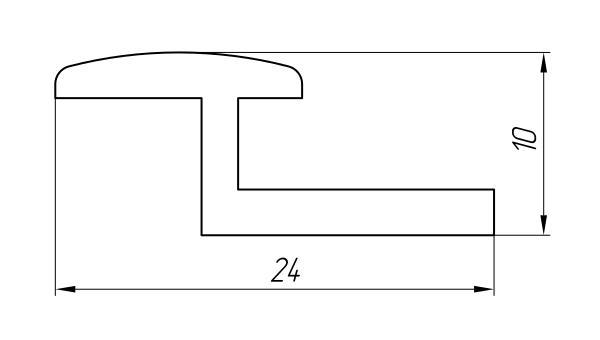 Aluminum Profile For Car And Rail Car Building Ат-1844 - Aluminum profile for mechanical engineering