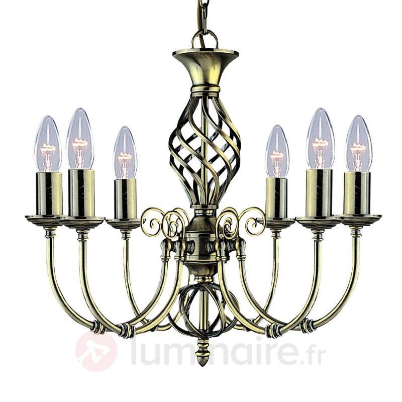 Lustre impressionnant ZANZIBAR à 6 lampes - Lustres classiques,antiques
