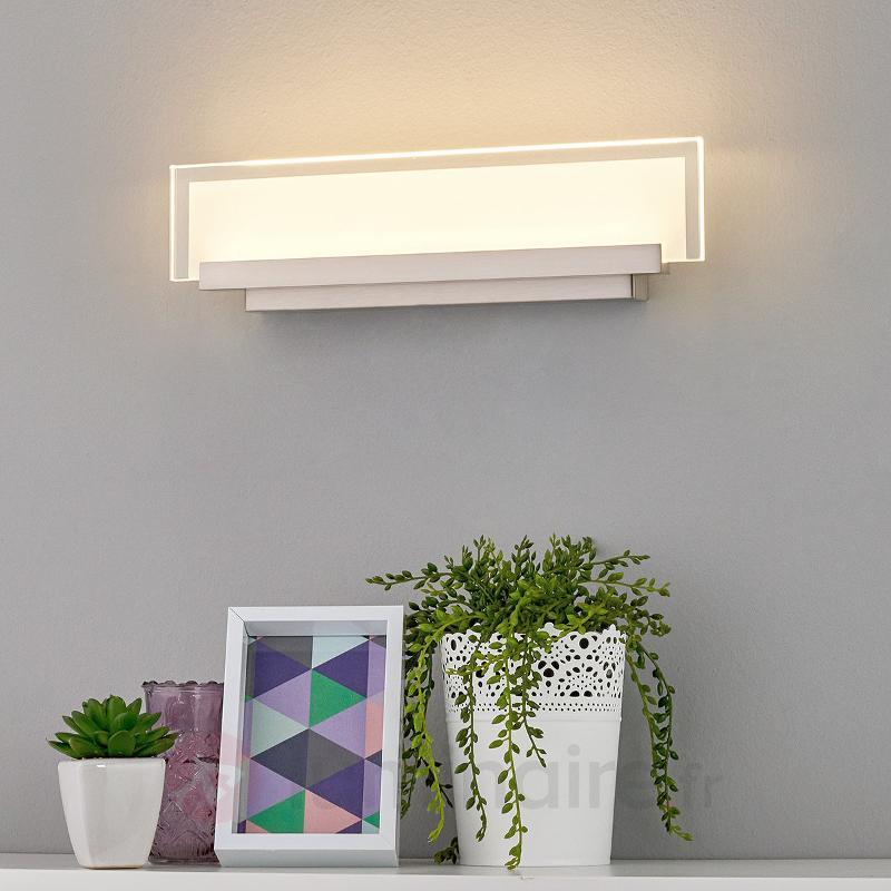 Applique LED élégante Teja avec plaque de verre - Appliques LED