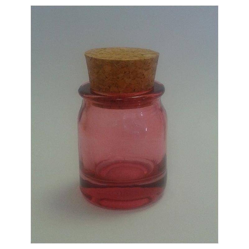 Batch of 6 mini Round Pink jars 30 ml  - Colored jars