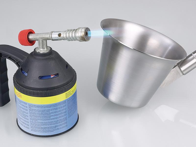 Schöpfer Edelstahl - Probenehmer für Flüssigkeiten, sterilisierbar durch Flammensterilisation oder Da