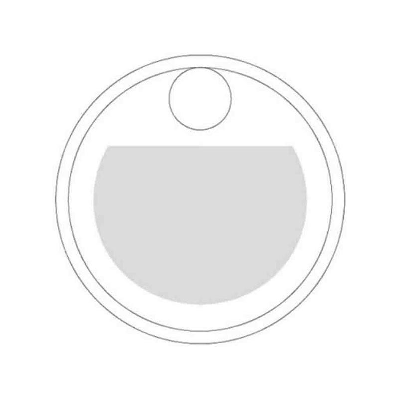 Jeton aluminium avec trou argent mat - Porte-clés métal