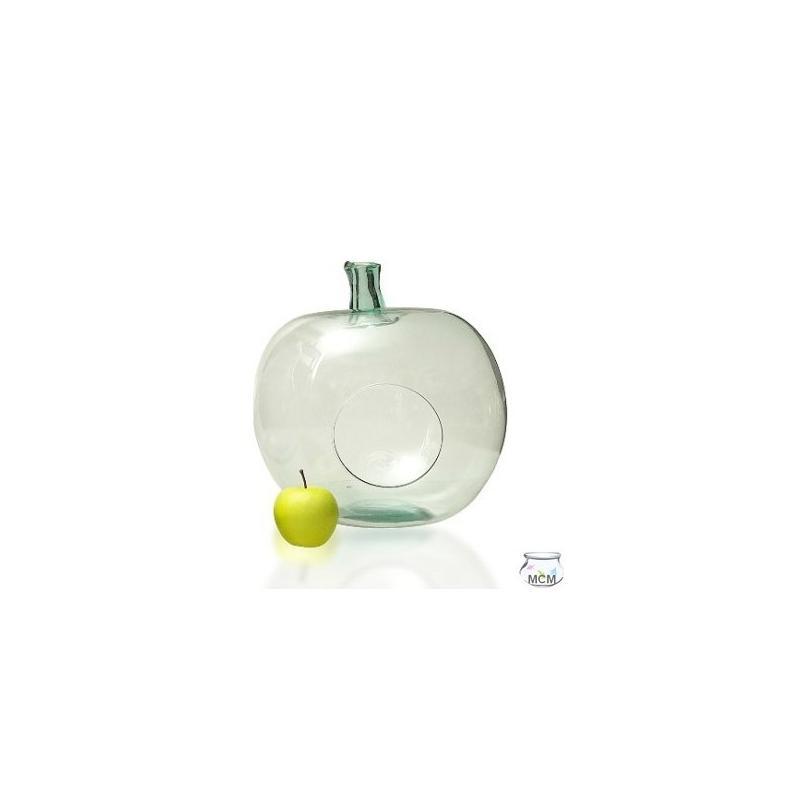 Pomme Terrarium en verre 100% recyclé, 36 cm de haut - Vases, Lanternes, décoration