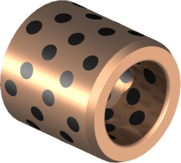 SLGL 5001 - Bronze u. Messing Gleitlager mit Schmierstiften - selbstschmierend, wartungsfrei