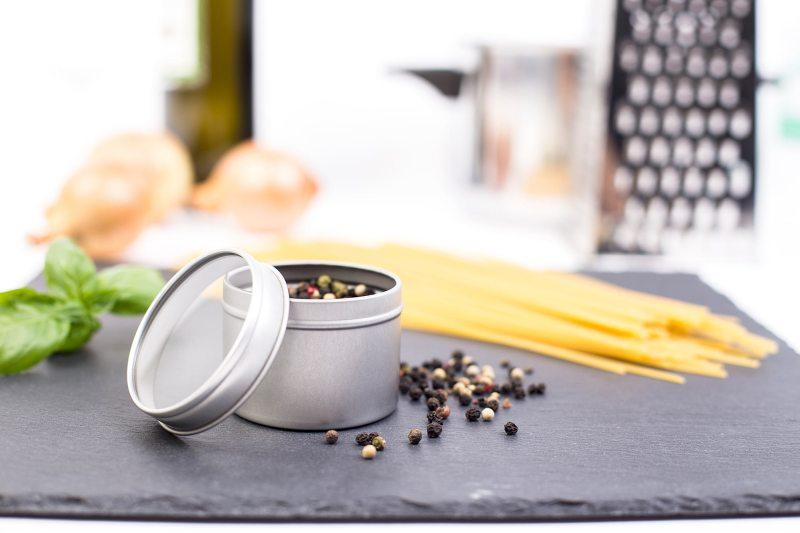 Herb tin box