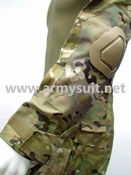 Combat Shirt & Pants Multi Camo Elbow Knee Pads - PNS7004