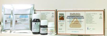 Immunofixation electrophoresis kit