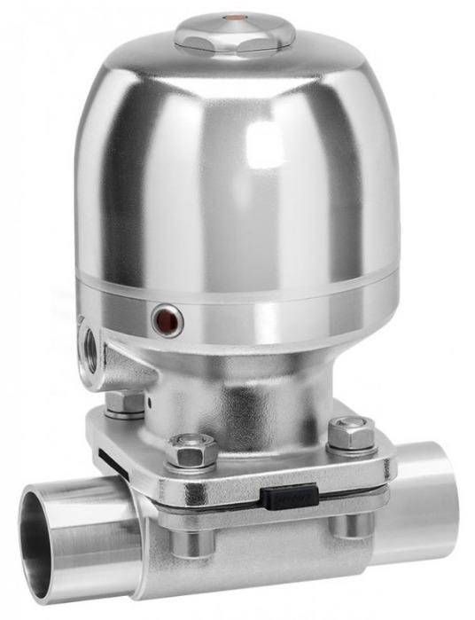 Pneumatically operated diaphragm valve GEMÜ 650 BioStar - The GEMÜ 650 BioStar 2/2-way diaphragm valve is pneumatically operated.