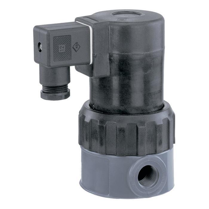 盖米202 - 盖米202是一款直接控制的两位两通电磁阀,带有完全塑料封装的线圈,电枢由PTFE材质的波纹管密封。