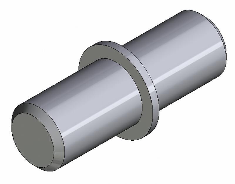 Bodenträger Duplo - Stahl - Ø 5mm - hell verzinkt - Bodenträger Fe