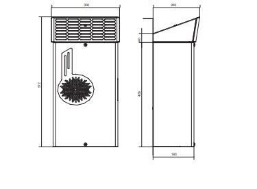 Emo04 Condizionatori Da Parete Per Applicazioni Outdoor - LINEA CLIMATIZZAZIONE