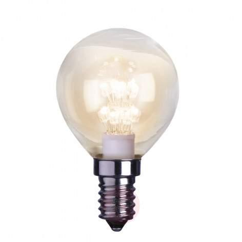 E14 0.7 W LED pear bulb, clear, 2,100 K - light-bulbs