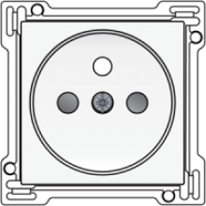 Set de finition prise de courant avec broche de terre - Interupteurs et prises