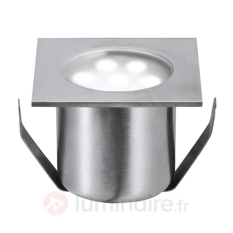 Spot encastré sol LED PROFI MINI set de base carré - Luminaires LED encastrés au sol