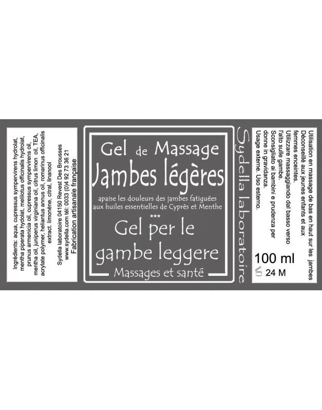 Gel De Massage Jambes Legères - PRODUITS DE MASSAGE