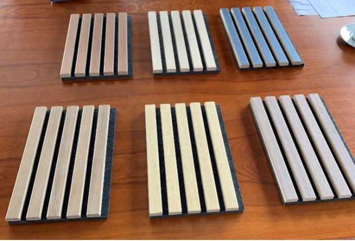 Acoustic Wooden Slats - Natural Wood Veneer Covered MDF with PET POLYESTER BACKING