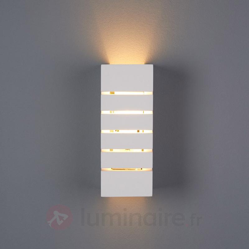 Applique Flavian à encoches éclairage indirect - Appliques en plâtre