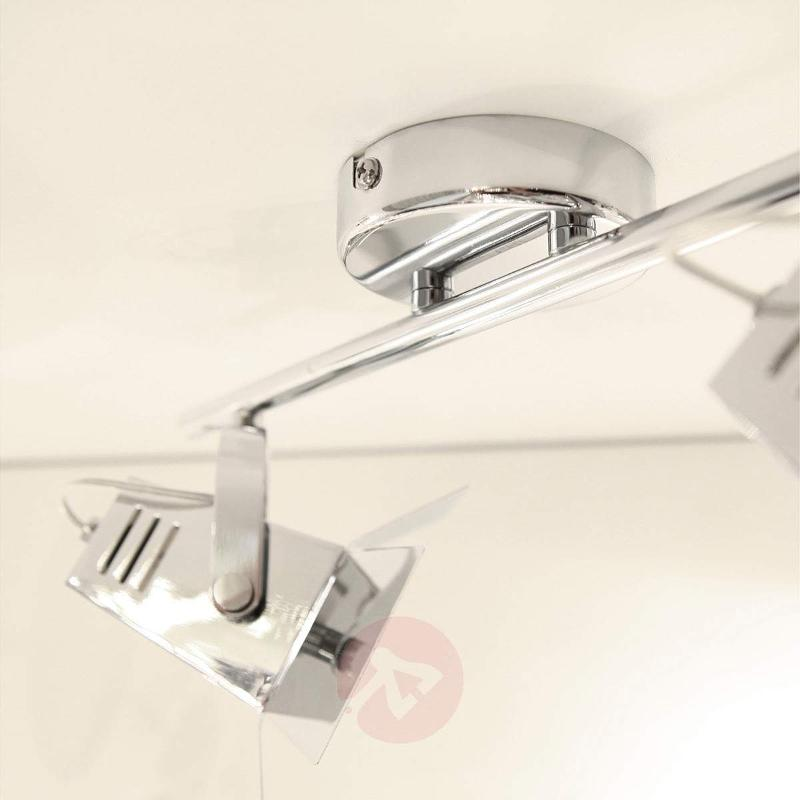 Two-bulb spotlight ceiling light MOVIE, chrome - Ceiling Lights