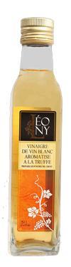 Vinaigre de Vin Blanc BIO saveur Truffe  - 6 % d'acidité LEONY