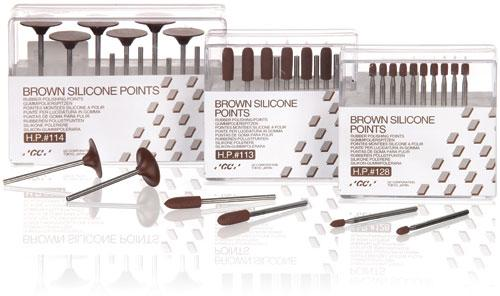 GC Brown Silicone Points
