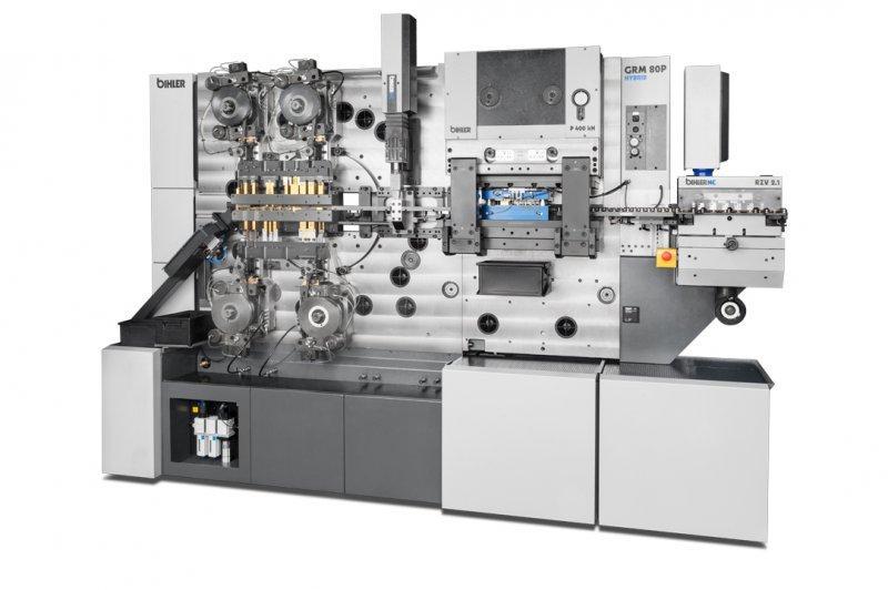 Hybrid multi-slide machine - GRM 80P hybrid - Stamping and forming machine GRM 80P hybrid with integrated servo axes