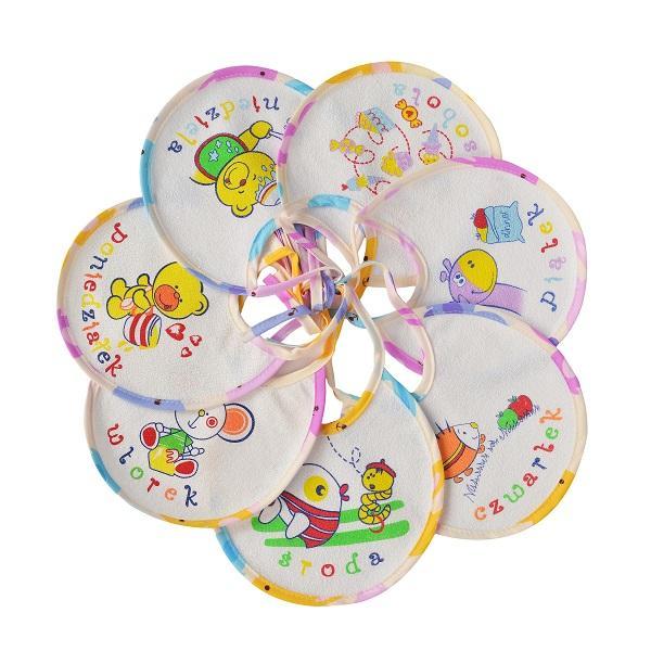 tekstylia dla niemowląt - wodoodporne śliniaki, pieluszki tetrowe i flanelowe, okrycia kąpielowe