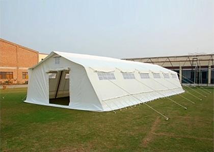 Multipurpose tents - IFRC/ICRC; Multi Purpose Frame Tent; 13.7×6 m