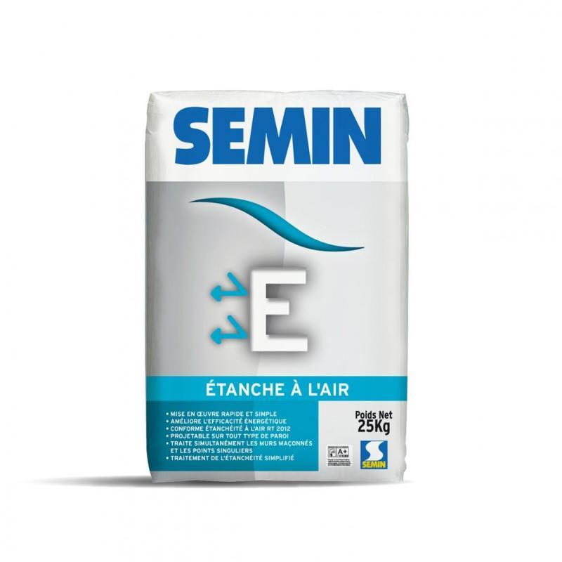 Enduit en poudre à base de base de plâtre - SEMIN E